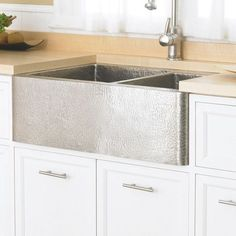 """Tecture is fun but how to keep it clean??   Farmhouse 33"""" x 22"""" Duet Copper Kitchen"""