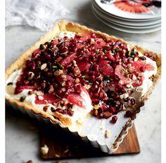 Tærte med granatæble, pistacier og blodgrape - Boligliv