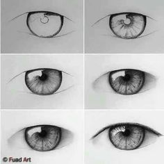 66 Ideas Eye Drawing Tutorial Step By Step Realistic Eye Drawing Tutorials, Sketches Tutorial, Drawing Techniques, Art Tutorials, Eye Tutorial, Art Drawings Sketches Simple, Cool Art Drawings, Pencil Art Drawings, Realistic Eye Drawing