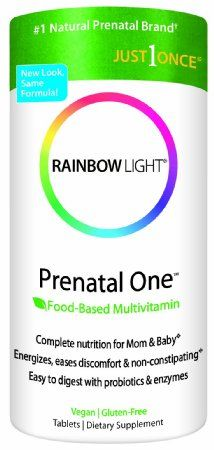Rainbow Light Prenatal One Multivitamin, 150-Count Bottle. Food based prenatal vitamins