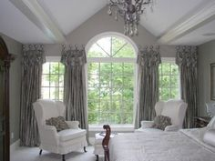 images of window treatments for large arch window | to the greatest and ancient window design like palladium window