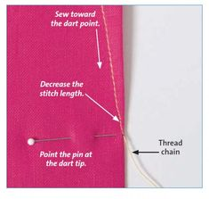 THREE TECHNIQUES TO REACH DART POINTS (Threads Magazine Article) In Teach Youself to Sew, Threads #170, Sandra Miller shares some fabulous secrets for achieving great-looking darts. All the fuss over dart points is for a reason: to avoid the dreaded dimple on the garment's right side. http://www.threadsmagazine.com/item/34072/three-techniques-to-reach-dart-points/page/all
