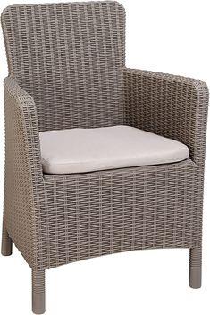 Schickes Design, mangelhafte Qualität und Verpackung  Farbe: Beige formschöner und bequemer Dining Sessel in naturgetreuer, offener und runder Rattanoptik. formschöner und bequemer Dining Sessel in naturgetreuer, offener und runder Rattanoptik inkl. bequemen Sitzkissen: sand, ca. 4 cm Stärke, Polyester Abmessung (B/T/H): ca. 63 x 60 x 85 cm hergestellt aus UV- und wetterbeständigem, hochwertigem Polypropylen (Kunststoff) einfacher Aufbau  Garten, Gartenmöbel & Zubehör, Gartenmöbel-Sets Outdoor Furniture, Outdoor Decor, Armchair, Ottoman, Dining, Home Decor, Garden Furniture Sets, Chair Pads, Packaging