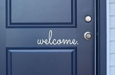 GroopDealz | Welcome Door Decals - Cute Selection!
