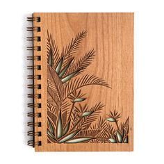 Birds of Paradise Wood Laser Cut Journal | desert botanical theme