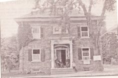 "From the Germantown Courier; Wednesday, September 10th, 2008.  ""The Site and Relic Society, predecessor of the Germantown Historical Society, was formed in 1901.  Shown is the Germantown Academy building on School House Lane used for a 1902 exhibit by the society.  Admission was 25 cents."""