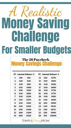 This is not your average money savings challenge. Designed for smaller and tight… This is not your average money savings challenge. Designed for smaller and tighter budgets, you can rest assured that you will accomplish your money savings goal. Money Saving Challenge, Money Saving Tips, Saving Ideas, Money Savers, Money Tips, Money Budget, No Spend Challenge, Financial Peace, Financial Tips