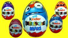 Maxi Kinder Surprise eggs Halloween Surprise Eggs YouTube Хэловин