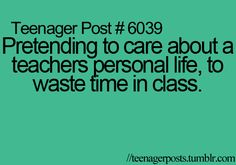 That is Mrs. Luca everyday!