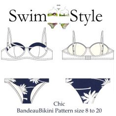 Our new Bandeau bikini pattern is finally finished! Chic Bandeau bikini Pattern by Swim Style Australia Size 8 to 20 Clear Step by Racerback Swimsuit, Bandeau Bikini, Bikini Tops, Pyjamas, Bombshell Swimsuit, Swimsuit Pattern, Couture, Pdf Sewing Patterns, Two Piece Swimsuits