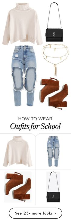 """SCHOOLS FINALLY OVER!!!!!"" by creativegurlsrbaexoxo on Polyvore featuring Yves Saint Laurent, Ettika and Madewell"