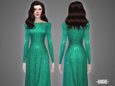 Angie gown by April at TSR via Sims 4 Updates
