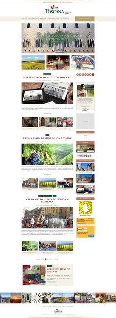 Desenvolvimento em WordPress responsivo, incluindo guia de fornecedores (serviços turísticos) sobre Toscana, uma região da Itália central.
