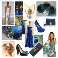 colorful peacock inspired centerpieces   ... peacock like blues and greens. A peacock wedding theme can be very