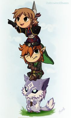 Feri's Zelda AU Wind Waker style!   GINGER LINK MY LIFE IS COMPLETE ❤......now all Nintendo needs to do is to make it real