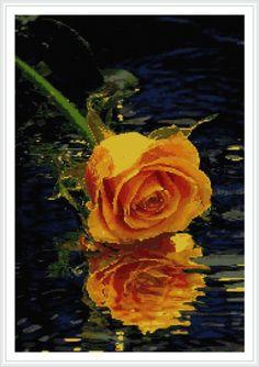 Wedding Cross Stitch Patterns, Counted Cross Stitch Patterns, Cross Stitch Charts, Cross Stitch Designs, Cross Stitch Rose, Cross Stitch Flowers, Blackwork Embroidery, Cross Stitch Embroidery, Beautiful Flower Designs