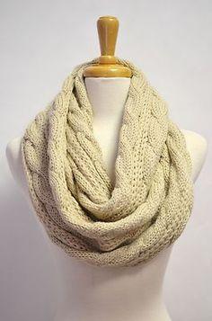 Chunky Knitted Infinity Loop Circle Honeycomb Scarf | eBay