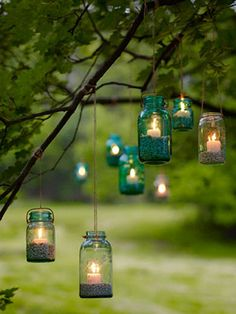 Perfect for Summer Evenings~DIY Garden Lanterns