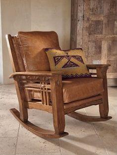 Leather Western Chair - Ideas on Foter Craftsman Style Furniture, Mission Style Furniture, Western Furniture, Rustic Furniture, Furniture Design, Cabin Furniture, Art Deco, Art Nouveau, Poltrona Design