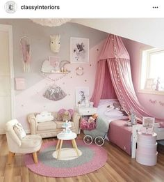 Little Girl Bedroom Decor parts can add a contact of style and design to any house. Little Girl Bedroom Decor can imply many things to many people… Cute Bedroom Ideas, Girl Bedroom Designs, Room Ideas Bedroom, Home Decor Bedroom, Bedroom Wall, Bedroom Furniture, Baby Bedroom, Awesome Bedrooms, Furniture Design