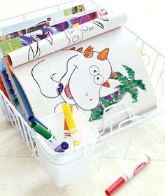 Escorredor de louças para organizar livros de colorir, lápis e canetinhas  (Chega de Bagunça: Novo usos para velhos itens)