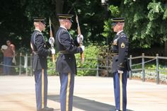 Changing of the guard at the Arlington National cemetery. Very nice experience