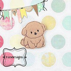 Puppy Dog feltie ITH Embroidery design file