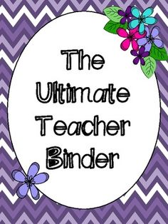 The Ultimate Teacher Binder - discounted until the end of the school year to encourage early planning! Creative Teaching, Teaching Science, Teaching Resources, Teaching Ideas, Teaching Methods, Teacher Binder Organization, Teacher Tools, Organized Teacher, Preschool Curriculum