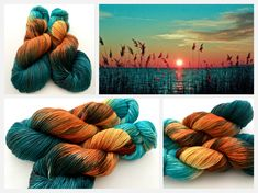 Blue Horizon - hand dyed yarn by Witch Candy Yarn