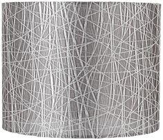 Silver Lines Lamp Shade 14x14x11 (Spider)   LampsPlus.com/ 4 hall