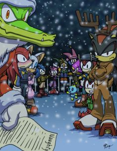 Sonic - Christmas 2011 by Tigerfog on DeviantArt