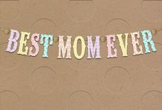 Best Mom Banner Mother's Day Card, , large