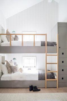 Bunk Beds For Boys Room, Bed For Girls Room, Bunk Bed Rooms, Bunk Beds Built In, Kid Beds, Boy Bunk Beds, Kids Beds For Boys, Built In Beds For Kids, Girls Bedroom