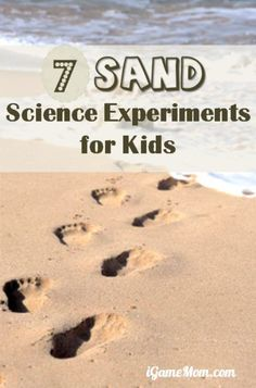 Fun sand science experiments for kids and the whole family to do on the beach or a sandbox in your own backyard or a park. Playful outdoor STEM activities for kids.