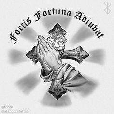Fortis Fortuna Adiuvat (john wick) by Fgore on DeviantArt John Wick Tattoo, Back Tattoos, Small Tattoos, Sleeve Tattoos, Tatoos, Tatuagem Em Latin, Fortes Fortuna Adiuvat, John Wick Movie, Spartan Tattoo