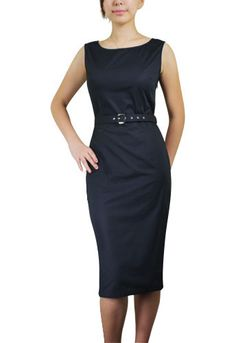 Black Plus-Size Belted Sleeveless Mad Men Pencil Dresses  $29.95  Store: ChicStar.com