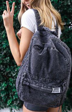 Afends - Nevermind Denim Backpack - Black Acid Wash | Back In Stock | Peppermayo