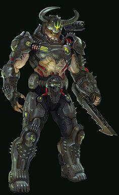 Doom 3, Doom Game, Alien Concept Art, Armor Concept, Fantasy Character Design, Character Art, Doom Demons, Goblin, Slayer Meme