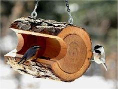 Create Amazing Things From Wooden Logs - Bird Feeder