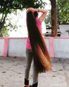 Long Ponytail Hairstyles, Long Hair Ponytail, Long Ponytails, Braids For Long Hair, Indian Hairstyles, Wavy Hair, Cool Hairstyles, Long Silky Hair, Super Long Hair