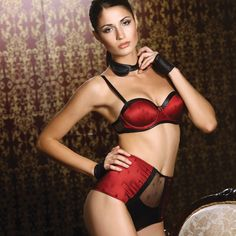 Red lingerie collection.