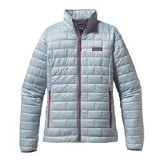 The Patagonia Women's Nano Puff® Jacket is windproof, water-resistant, warm, and incredibly lightweight. Made with PrimaLoft® Gold insulation.   in this color, black, or feather grey.