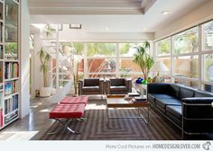 Parker KuDa Love the light, colors and furniture.  Glass could be replicated in Garage Redo.