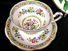 FOLEY TEA CUP AND SAUCER MING ROSE PATTERN TEACUP FLOWERED PATTERN
