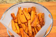 Oven baked garlic chilli sweet potato fries