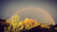 Another perfect rainbow in Steamboat Springs Colorado