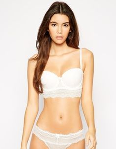New Look Lace Longline Bra Long A Line, New Look, Snow White, Asos, Underwear, Lingerie, Lace, Outfits, Shopping