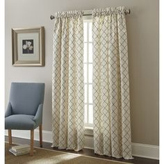 Shop for Sherry Kline Westbury Embroidered Rod Pocket 96-inche Curtain Panel - Dark Gold Dining Room