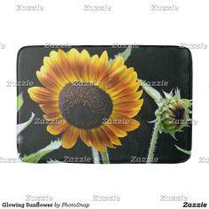 Glowing Sunflower Bath Mat