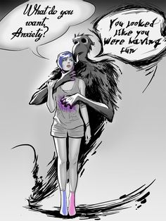 """""""Anxiety"""" I drew after it had passed but even so while making it, just the memory made me stop for a while and wonder if I want to finish it  Artist: Drawly.info"""